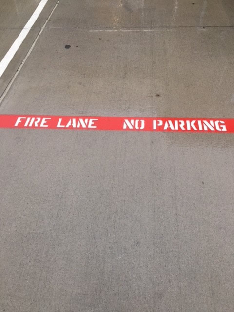 Fire Lane Striping In Germantown, TN